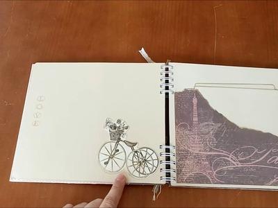 Libro de firmas enlace Cris y Alfred - Scrapbooking