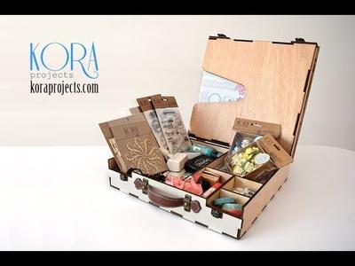 MALETÍN scrapero de Kora project. Guardar el material de scrapbooking