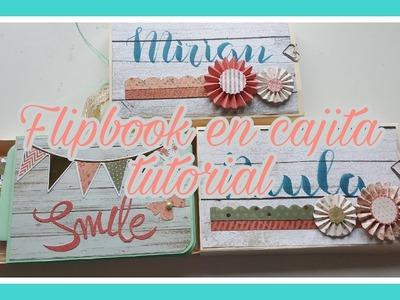 MIni album con cajita flipbook