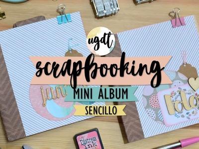 Mini álbum sencillo, dos por uno - Scrapbooking - UGDT