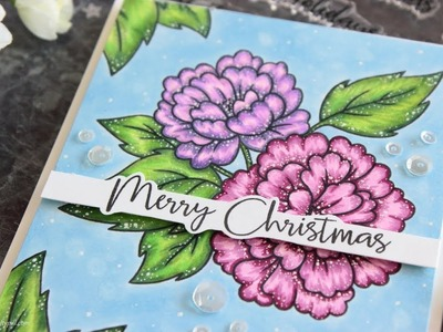 Non-traditional Christmas Card + Copic Coloring