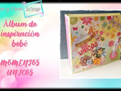 "Scrapbooking. Álbum alegre de bebé niña ""The Blossoms and Butterflies"" (DCWV) Inspiración"