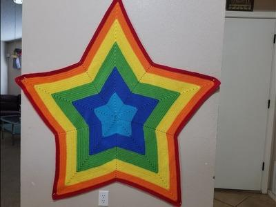 Star blanket crochet (Sabanita en forma de Estrella tejida)
