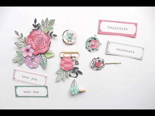 Tutorial Scrapbooking: Crea decoraciones reciclando restos de papel de scrapbooking