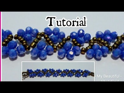 #08DIY Tutorial Hermosa pulsera de murano. How to make