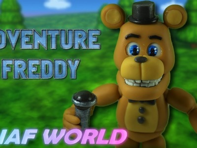 Adventure Freedy | Fnaf World | Air Dry Clay Tutorial