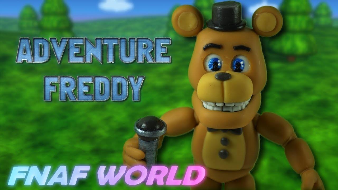 Adventure Freedy | Fnaf World | Air Dry Clay Tutorial