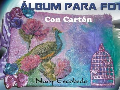 ÁLBUM PARA FOTOS CON CARTÓN(BANDERA DE ARGENTINA)