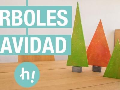 Árboles de Navidad caseros de madera · Handfie DIY