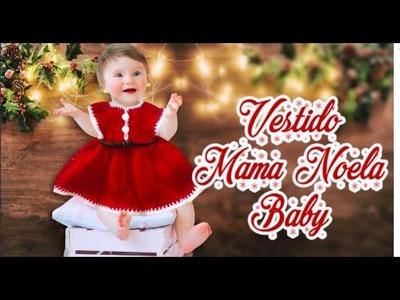 BABY DRESS A CROCHET.VESTIDO MAMA NOELA | Canela♥