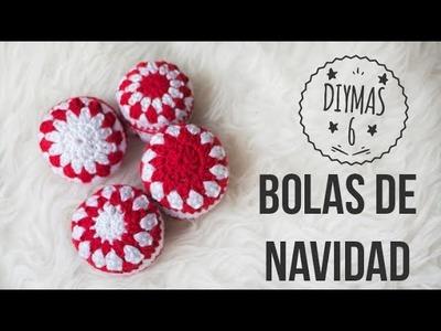 Bolas de crochet navideñas
