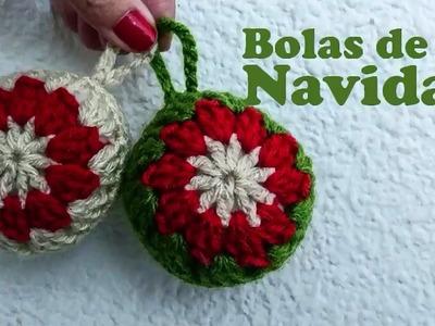 Bolas de Navidad a crochet!!