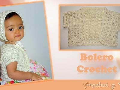 Bolero tejido a crochet para niñas - Parte 2 de 2