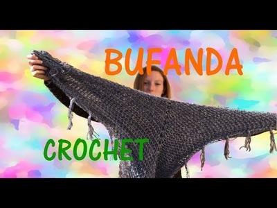 Bufanda cuadrada a crochet