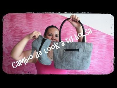 Cámbiale el look a ese bolso.cartera que ya no usas DIY (renueva una bolsa vieja)