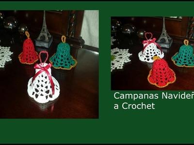 Campanas Navideñas a Crochet para Diestros