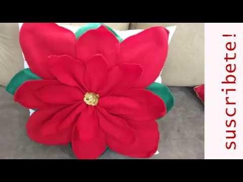 Cojín navideño Flor de pascua