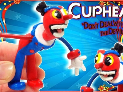 Como Hacer A Beppi The Clown De CupHead Con Arcilla Polimerica | Fimo | Polymer Clay Tutorial
