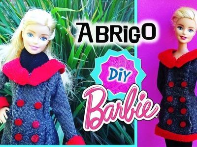 Como hacer ABRIGO para tus MUÑECAS Barbie SIN COSER!. Ropa MANUALIDADES para MUÑECAS Barbie