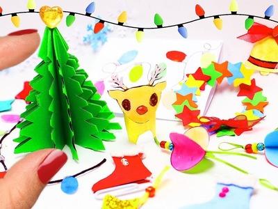 Cómo Hacer Decoraciones y Adornos de Papel para el Invierno - 10 manualidades fáciles para muñecas