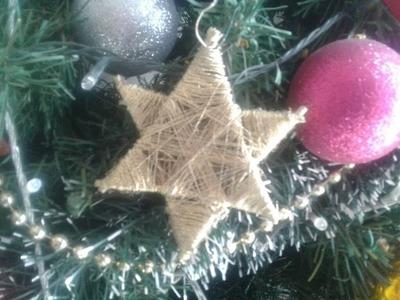 Cómo hacer estrella para árbol de navidad manualidades  de navidad