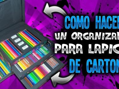 Como Hacer Organizador Para Lápices de Colores || DIY || Una Idea Más