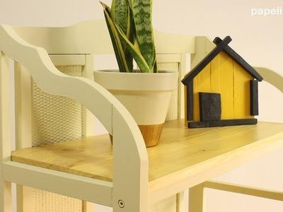 Cómo restaurar estantería de madera con estilo nórdico
