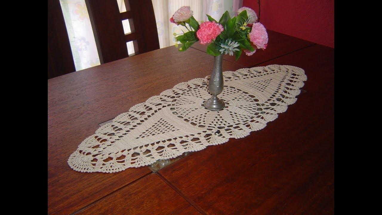 Como Tejer Carpeta Ovalada o Centro de Mesa a crochet  paso a paso parte 3.3