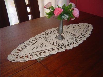 Como Tejer Carpeta Ovalada o Centro de Mesa a crochet  paso a paso parte 1.3
