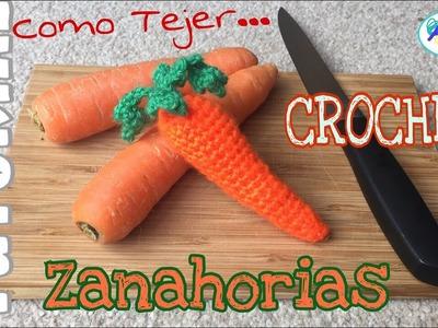 Como tejer Zanahorias a Crochet