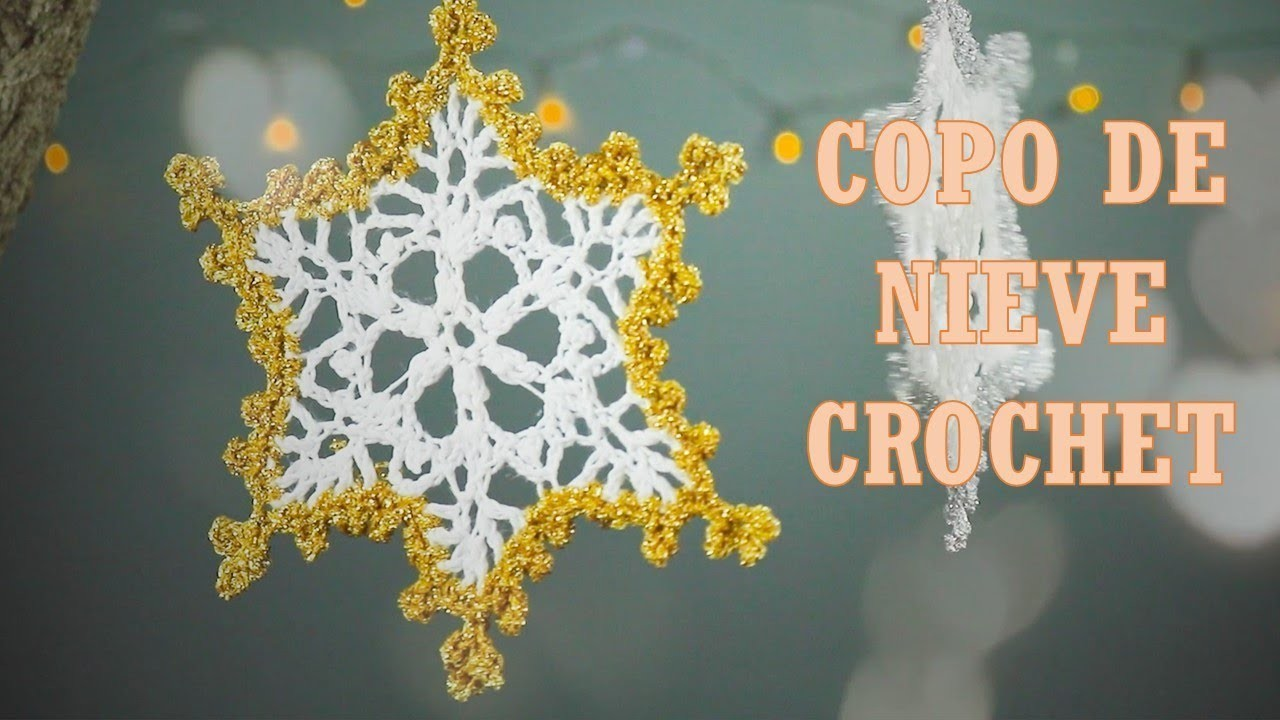 Copo a crochet, paso a paso, copo de nieve