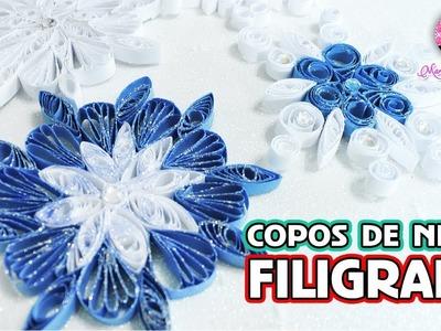 Copos de Nieve de Papel con el Arte FILIGRANA por DIY con Marlene Campos
