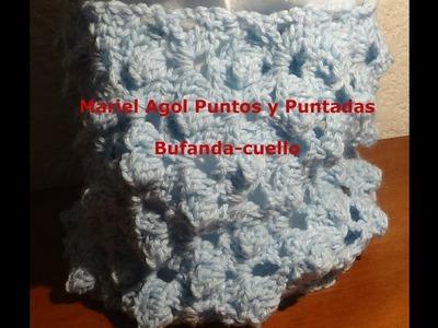 Cuello-bufanda a crochet, sencillo y rápido de hacer