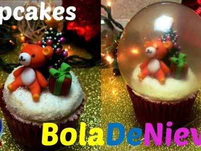 Cupcake Bola De Nieve. Navideñísimos- QUEREMOS PASTEL