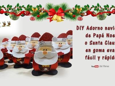 DIY Adorno navideño de Papá Noel o Santa Claus en goma eva, fácil y rápido