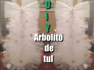Diy.Arbolito ????hecho con tul.suscribanse.