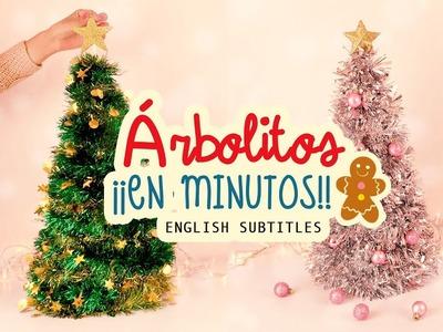 DIY ÁRBOLITOS DE NAVIDAD ¡¡EN MINUTOS!!  mini-DIY Navideño #ChristmasTime   COOKIES IN THE SKY
