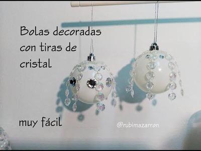 Diy. Bola esfera decorada con cristales