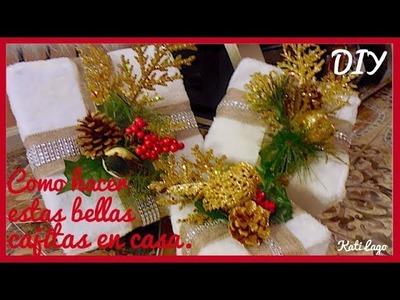 DIY|Cajitas de regalo para adornar en esta Navidad.Christmas decor boxes.