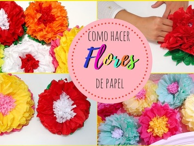 DIY: como hacer flores de papel super facil! - TUTORIAL