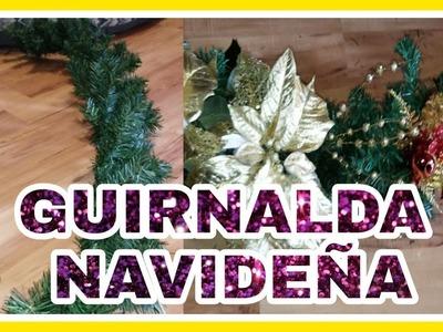 DIY COMO HACER TU PROPIA GUIRNALDA NAVIDEÑA