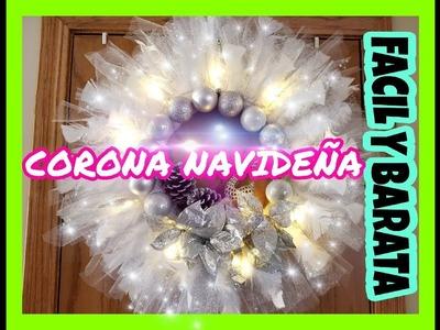 DIY CORONA NAVIDEÑA *FACIL Y ECONOMICO* - YESSY RIVERO