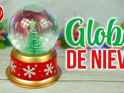 DIY DECORACIÓN DE NAVIDAD - Globo de nieve reciclado | DREEN