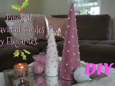 DIY DECORACIONES DE NAVIDAD FACILES -PINOS DE NAVIDAD | Maggie Tapia