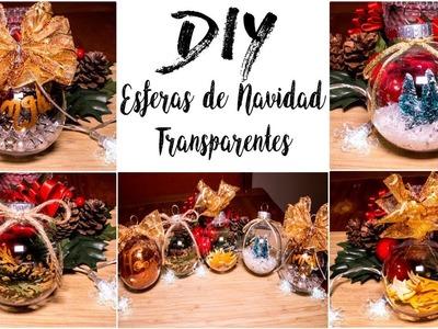DIY ESFERAS DE NAVIDAD TRANSPARENTES | DIY CLEAR CHRISTMAS ORNAMENTS | ARELI DURAZO