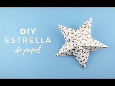 DIY Estrella de Navidad con papel | Bluca