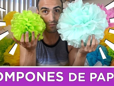 DIY Pom Poms - Pompones de papel de china