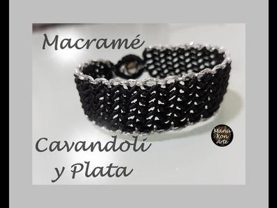 DIY Tutorial Macrame Cavandoli y Plata