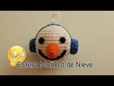 Esfera muñeco de nieve crochet. Crochet Adriana
