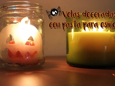 Esmerilado en velas de Halloween
